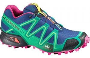 Salomon Women's Speed Cross 3 W Trail Running Shoe,Blue/Emerald Green/Hot Pink,10 M US