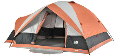 Igloo Blue Ridge II Family Dome Tent 5-Person, Orange Gray
