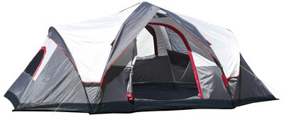 Mountain Trails Grand Pass 18 by 10-foot 2-room 9 to 10-person Family Dome Tent 10-foot 2-room 9 to Click