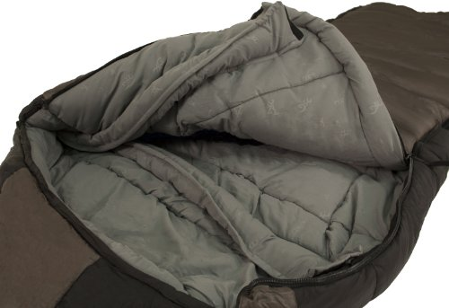 Browning Camping Mckinley 0 Degree Nylon Diamond Ripstop Oversized Hooded Rectangle Sleeping Bag 36 X 90 Inch