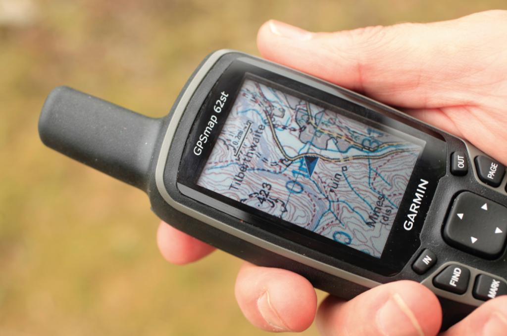 Garmin GPSMAP 62St Handheld Hiking GPS Navigator - mountain maps directions
