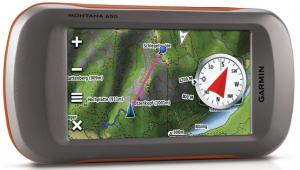 Garmin Montana 650 Waterproof Hiking GPS with 5 Megapixel Camera - compass directions