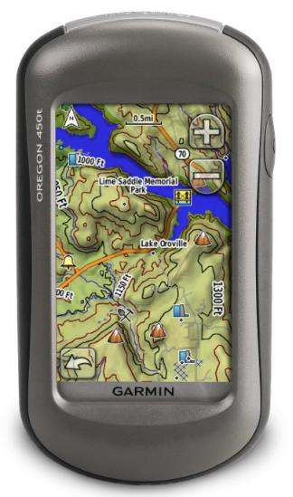 Garmin Oregon 450t Handheld Hiking GPS Navigator