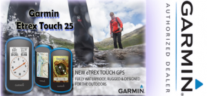 Garmin etrex Touch 25 Hiking GPS - compass road directions hikes geocaching