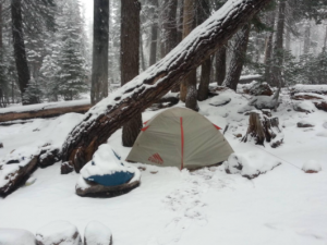 Kelty Salida 2 Tent 3 season backpackers tent - in snow weather