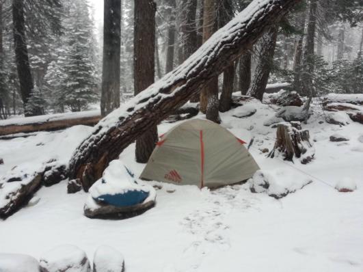 Kelty Salida 2 Tent 3 season backpackers tent - in snow weather