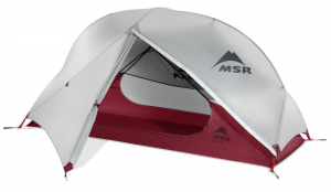 MSR Hubba NX 1-Person Tent 3 season backpackers tent - front opening