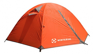 Winterial 2-Person Camping and Backpacking Tent - closed weather proof