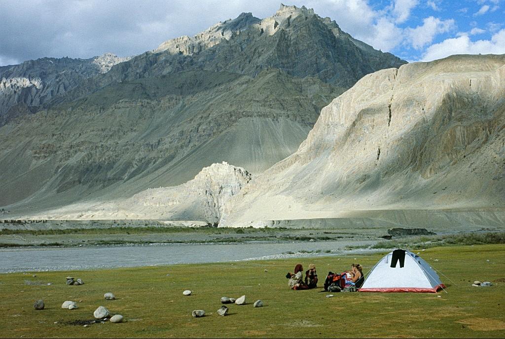 Ladakh Range hiking India Zanskar river camping