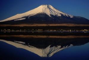 Mount Fuji seen from Lake Yamanaka Japan