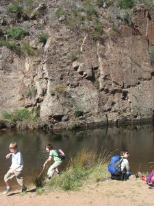 Kids Playing at Needles Beach Werribee Gorge