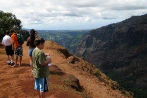 Waimea Canyon hike at the rim Kauai