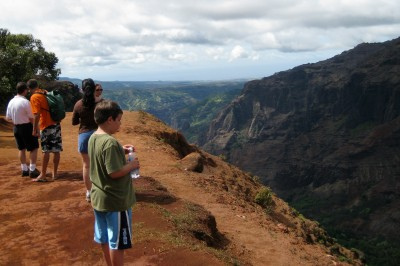 Waimea Canyon hike at the rim Kauai