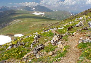 Mount Ida hiking trail Rocky Mountain National Park