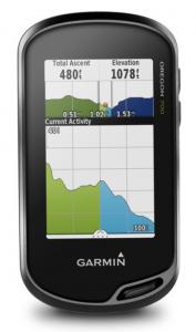 Garmin Oregon 700 Handheld Hiking GPS - elevation graph