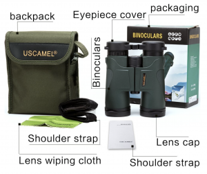 USCAMEL 10x42 Military HD Binoculars Professional Hunting Hiking Compact Telescope - with strap and carrying bag