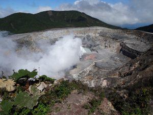 Volcano Poas Costa Rica hiking backpacking