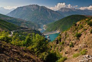 northeast Albania near the border with Kosovo