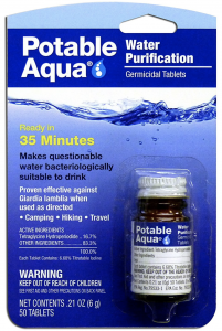 Potable Aqua Water Tablets