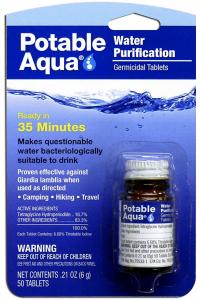Potable Aqua Water Tablets