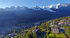 Hiking around Chamonix in the Haute Route Switzerland Europe