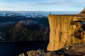 Hiking in Preikestolen Norway Europe