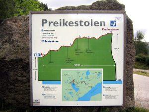 Map of Preikestolen Norway Europe