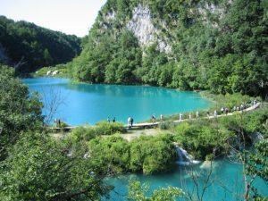 Walking paths Plitvice Lakes National Park Croatia Europe