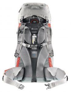 Deuter ACT Lite 65+10 Hiking Backpack - back panel and adjustable straps