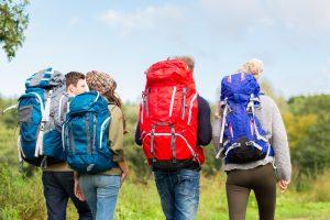 Hiking Backpacks - group of 4 hikers